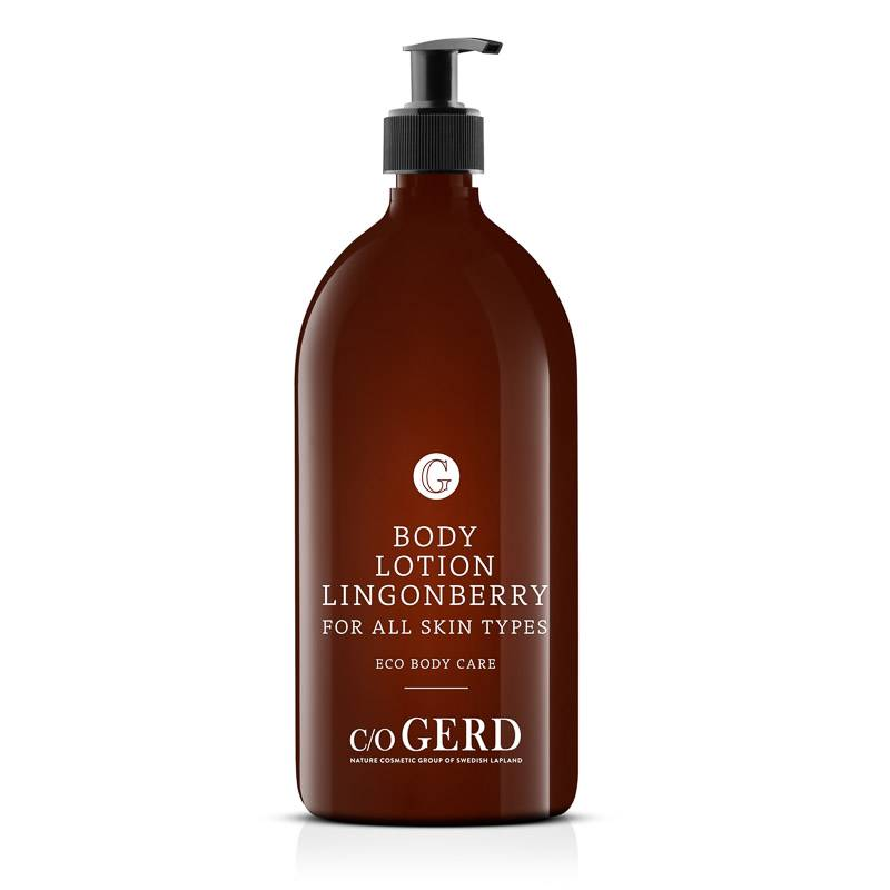 BODY LOTION LINGONBERRY 1000 ML in der Gruppe Körperpflege / Körperlotion & Körperöl bei  Nature Cosmetic Group Of Swedish Lapland AB (302-1000)